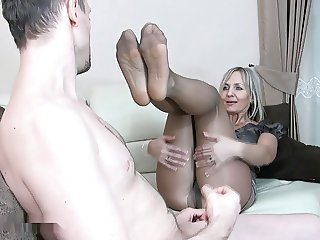 Sexy Wife Pantyhose footjob 5