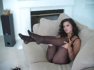 Pantyhose - Playtime Video - GODDESS Sunny Leone Pantyhose