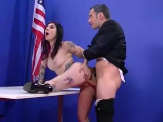 Tattood Angel Joanna fucked by dudes