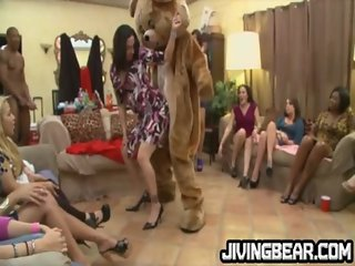 CFNM dancing bear at drunk party
