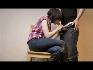Amateur Cowgirl Creampied on Homemade Quickie