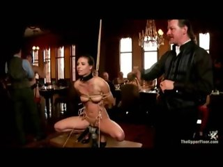 Hot slave bruttally abused at on the upper kinky floor