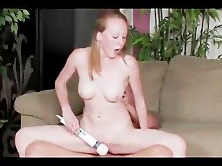 Redhead Emilee pale skin pink tits
