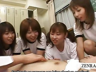 Subtitle CFNM Japan schoolgirl gym class