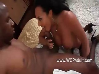 Busty Rio Lee fucked by a huge black cock