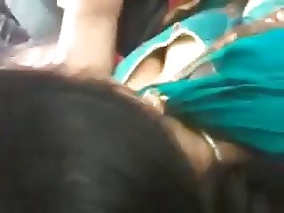 Indian MILF's Cleavage in a Bus