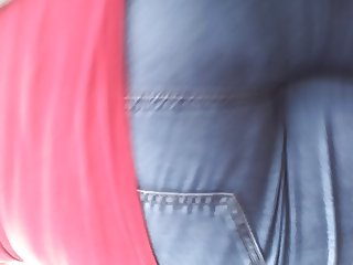 Walking Ass in tight jeans Close Up
