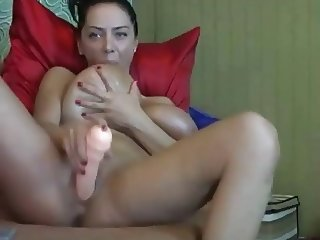 Busty Merilyn Sekova Fucking Machine On Webcam