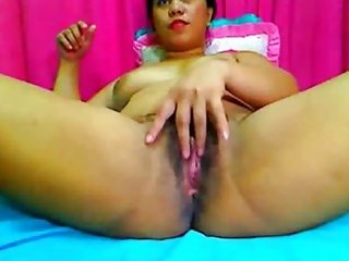 Filipina Mature Playing With Her Hairy Pussy