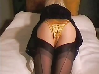 Black Lace satin Knickers