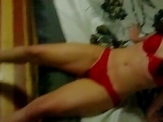 Korean Slut wiht Red Bra