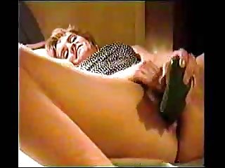 old clip of wife masturbating with a cucumber