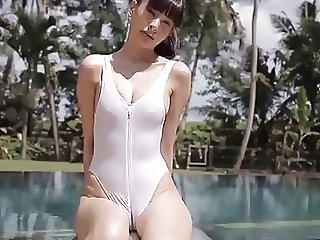softcore asian swimsuit tease