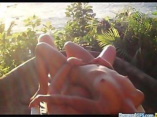 Balcony Holiday Sex In Hawai