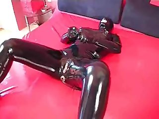 Black Doll Catsuit Masturbation