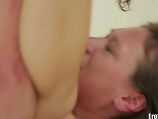 EroticaX Romantic couple making love