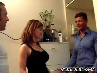 Amazing busty amateur girlfriend in action