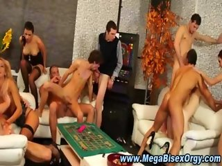 Group of orgy studs and sluts