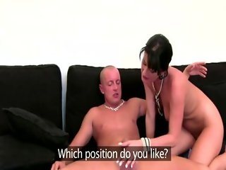 Euro lady auditions dude for porn movie