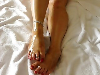 Beautiful Oily Feet
