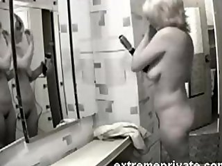 Homemade spy footage my blonde aunt