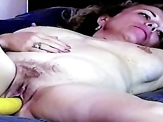 Mature Nude Female SS Orgasm Pops Out Veggie