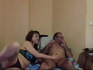 Bulgarian Mature slut suck 3 dicks