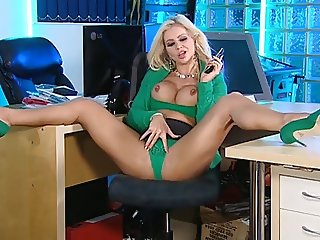 Charlene in the RLC Office in Green