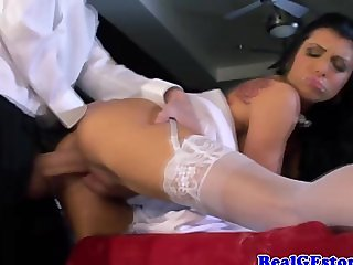 Real raven bride getting fucked on her honey
