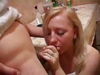 Stupid whore in the Kitchen