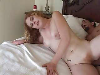Older Guy Gives Hairy Cunted Redhead Cherry A Good Fucking