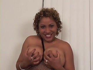Chunky Big Tit Black Kira POV