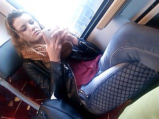 Hot teen in the train 2