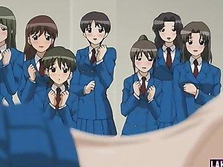 Hentai schoolgirls gets fucked in classroom