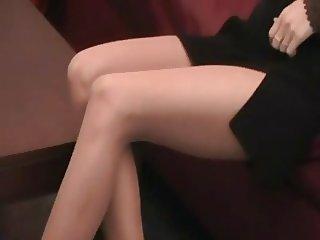 pantyhose leg tease lil
