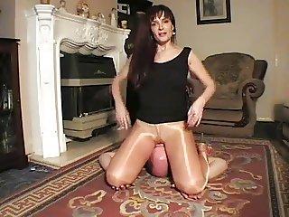 english girl in tights facesitting