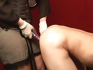 strap-on on pillory
