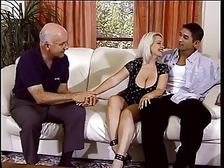 Nicky Cuckolds Husband With Two Old Men