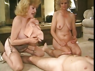 2 sweet grannies with nice flabby bodies & guy