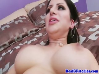 Brunette milf pounded with hard cock