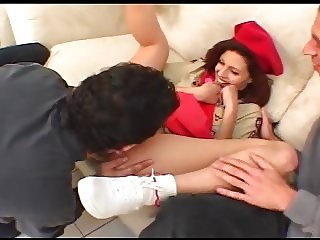 Girl Scout Banged By 2 Men