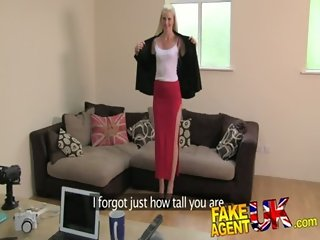 FakeAgentUK 2nd dose of blowjobs rimming and fucking for Tall dirty blonde