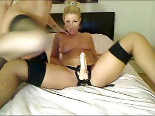 strapon fun lesbians