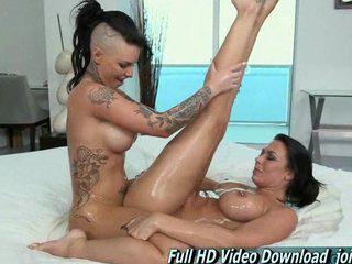 Pornstar Threesome Pussy Sweet Oiled lesbian