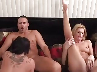 2 hot slut fuck 2 lucky guys