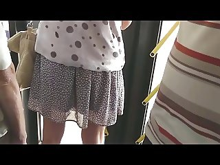 Upskirt Voyeur In Train BVR