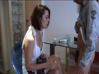 Femdom laughing at tiny little cock and humiliates