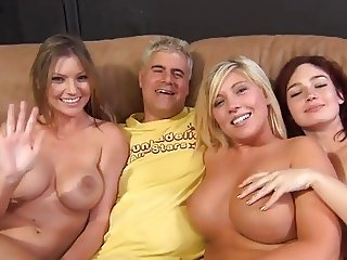 3 Babes Orgy With Guys