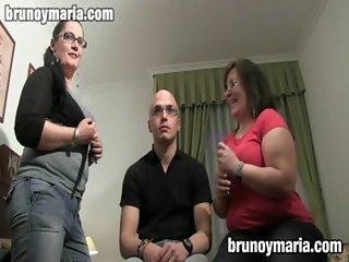 trio amateur espaol en bruno y maria de larry su mujer y la amiga de esta