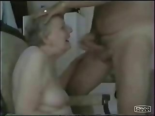 Granny sucking young cock. Amateur